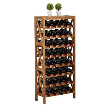 Modern Wooden Wine Rack Cabinet Bar  Home Bar Furniture Oak Wood 25-40 Bottles Wine Rack Holders Storage