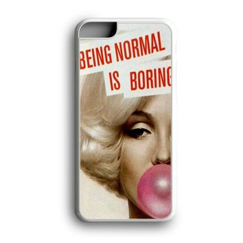 Awesome Black Friday Offer Marilyn Monroe Being Normal Is Boring Bubble Gum iPhone Case | Samsung Case