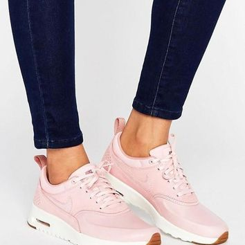 nike air max thea red pink casual sports shoes