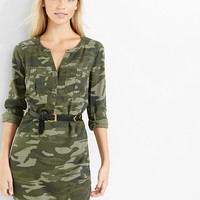 Camouflage Soft Twill Popover Shirt Dress