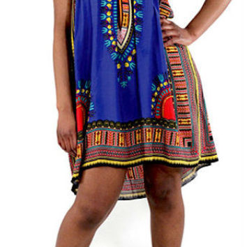 Traditional Dashiki Print Baby doll Dress