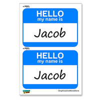 Jacob Hello My Name Is - Sheet of 2 Stickers