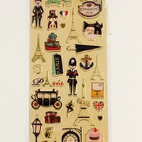 Vintage Europe Travel Sticker Sheet