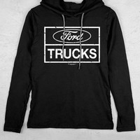 Women's Country Girl® Ford Trucks Distressed Lightweight Hooded Tee