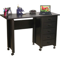 Venture Horizon Black Mobile Desk and Craft Center | Overstock.com