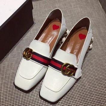 Gucci Women Fashion Simple  Casual Low Heeled Loafers Shoes