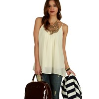 White Easy Going Tank Top