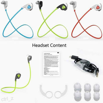 Original Bluedio Q5 Wireless Bluetooth 4.1 Headset Stereo Handfree Exercise Running Gym Sport Earphone Sweatproof Headphone