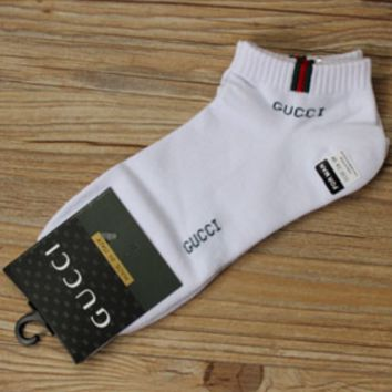 GUCCI Striped Fashion Casual Sport Socks A set for 3 pairs