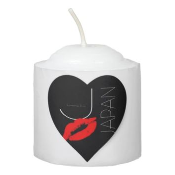 Greetings from Japan Japanese Red Lipstick Kiss Votive Candle