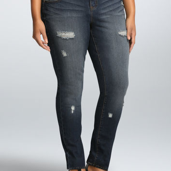 Torrid Skinny Jean - Medium Wash with Destruction (Regular)