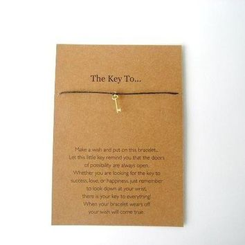 Make A Wish Bracelet - The Key To...