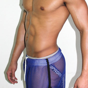 Mesh Running Shorts-Royal