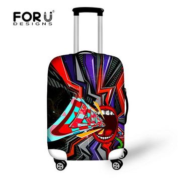 HOT Customized Hip-hop Style Elastic Covers for Travel Luggage Thick Suitcase Dustproof Protect Cover Girls Women Luggage Cover