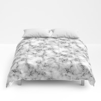 White Marble Texture Comforters by Smyrna