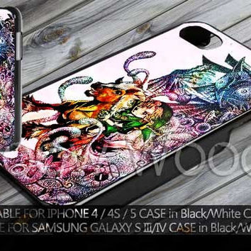 Zelda and horse majora mask colourfull Design for iPhone 4/ 4s, iPhone 5,5c, 5s, Samsung Galaxy S3, S4 Case