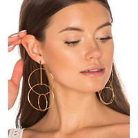 joolz by Martha Calvo Multi Hoop Earrings in Gold