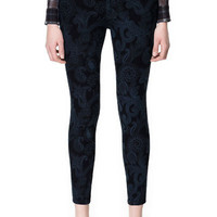 PRINTED BLUE JEANS - Jeans - Woman - ZARA United States