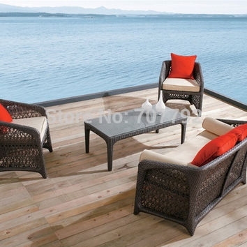 Classic Desgin Carney Modern Outdoor wicker sofa set
