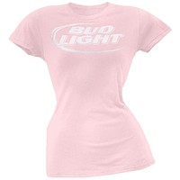 Bud Light - Logo Pink Juniors T-Shirt