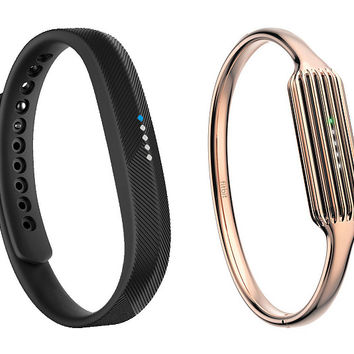 Fitbit Flex 2 with Rose Gold Bangle Bracelet — QVC.com