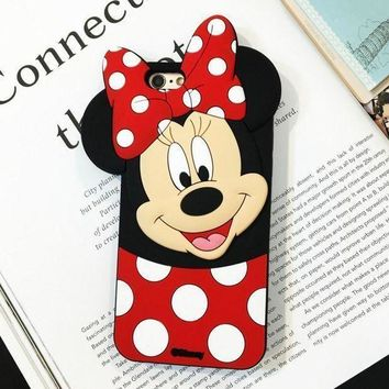 onetow One-nice? Disney 3D Mickey & Minnie mobile phone case for iPhone X 7 7plus 8 8plus iPhone6 6s plus I