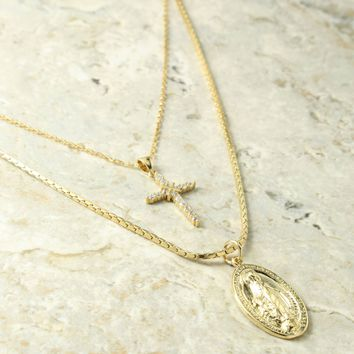 The Madonna Gold Necklace