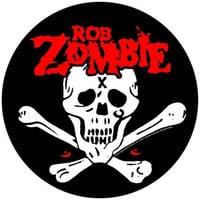 Rob Zombie Sew On Canvas Back Patch Round Skull Crossbones Logo