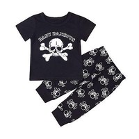 Toddler Infant Baby Boys Clothes Sets Cotton T-Shirt Tops Pants Cute Cotton Clothing Baby Boy 2Pcs Outfits