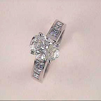 2.35ct Oval Shape Diamond Engagement Ring 18kt White Gold GIA certified JEWELFORME BLUE