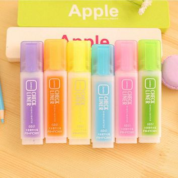 DCCKL72 1 PCS High Capacity Cute Kawaii Fluorescent Highlighter Pen Water Color Marker Pen For Paint Draw School Supplies Stationery