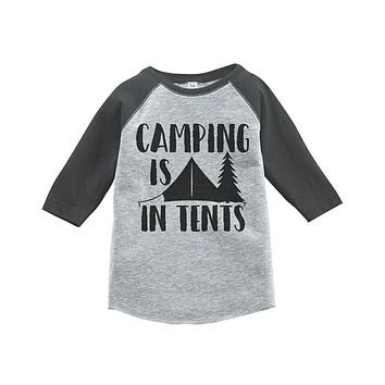 Custom Party Shop Unisex Camping is in Tents Outdoors Raglan Tee
