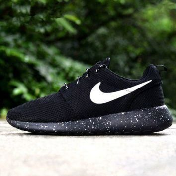 """NIKE"" Fashion Women Running Sport Casual Shoes Sneakers Black(black starry sky sole)"