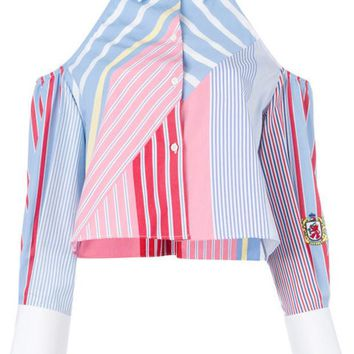 DCCKIN3 Tommy Hilfiger Cold Shoulder Striped Shirt
