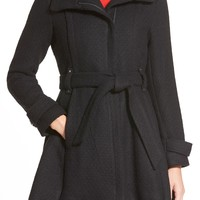 Steven Madden Asymmetrical Zip Skirted Coat | Nordstrom