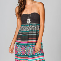 Billabong Slowly Cruzin Tube Dress Black Combo  In Sizes