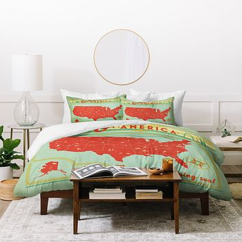 Anderson Design Group Explore America Duvet Cover