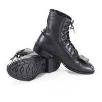 Roper Boots Black Leather Ariat Equestrian Lace Up Ankle Boots Size 7