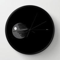 Destroyer imperial crane Wall Clock by Tony Vazquez