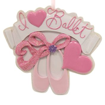 Holiday Ornaments I Love Ballet Ornament Resin Ornament