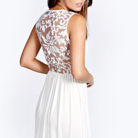 Ella Burnout Back Detail Skater Dress