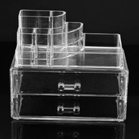 Cosmetics Organizer Clear Acrylic Makeup Organizer Holder Multiple Display:Amazon: