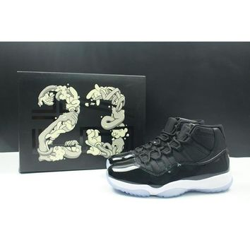 Air Jordan Retro 11 Space Jam 11s Basketball Shoes Original Quality Real Carbon Fiber Men And Women Shoes 378038-003 - Beauty Ticks