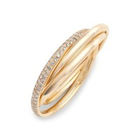 EF COLLECTION Jumbo Interlocking Triple Ring | Nordstrom