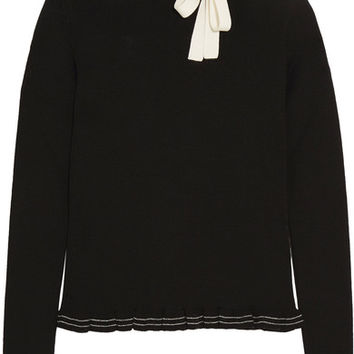 REDValentino - Ruffled bow-embellished wool sweater
