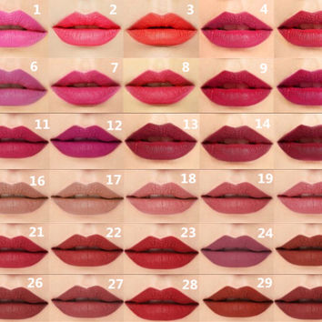 1 Pc Matte Velvet  Lipstick  Sexy Dark Red Nude Pink Rose Red Orange Lip Gloss Stick Long Lasting Matt Lipstick Makeup 30 Colors
