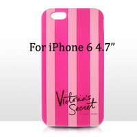 iPhone 6 PLUS 5.5 / For Apple iPhone 6 4.7 inch Victoria/'s Secret PINK Soft Silicon Stripe Luxury Case Covers