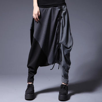 2015 free shipping yards fat mm thick winter new harem pants pants female personality loose women