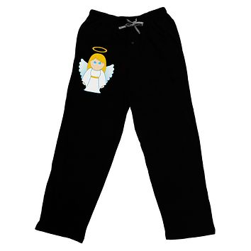 Cute Christmas Angel Girl Adult Lounge Pants - Black
