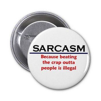 KRW Sarcasm Funny Joke Pinback Button from Zazzle.com